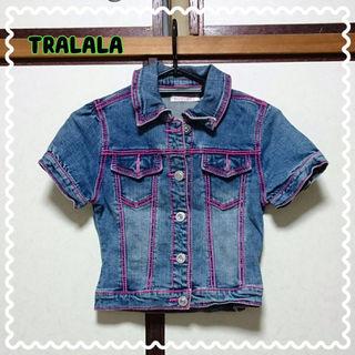 TRALALA半袖デニムジャケット
