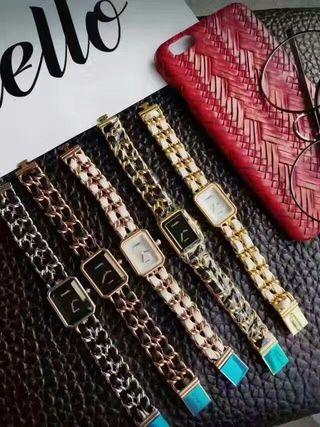 美品シャネル2-32 プルミエール腕時計 革チェーン