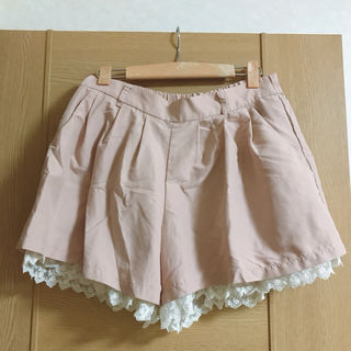 コルザ(ハニーズ)ピンクのレースキュロットスカート