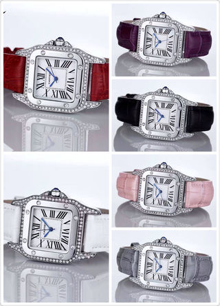 多色入 Cartier 新作 腕時計 バンドレザー 2-69