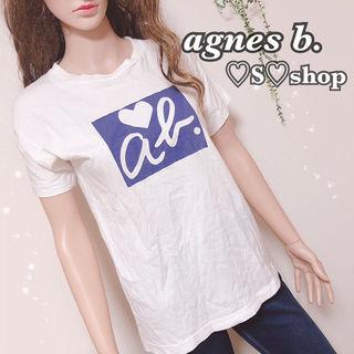 agnes b.ロゴプリントTシャツ