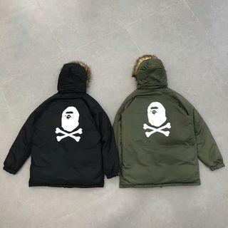 秋冬人気美品 BAPE ダウンコート 防寒 高質