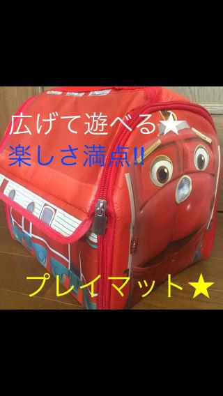 機関車プレイマット□ベビー用品□おもちゃ収納バッグ□キッズ