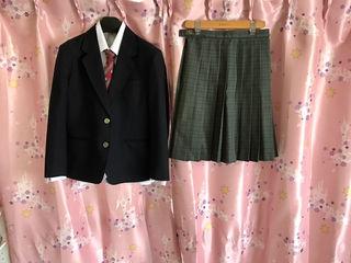 福岡高校制服スカートブレザーブラウスブラウスリボン