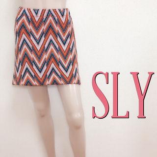 おしゃれ着スライ ラメニット デザインスカート