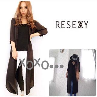 新品 RESEXXY ロングマニッシュシャツ ブラック