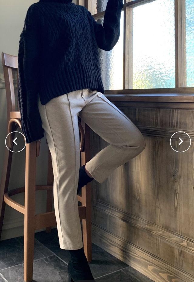 【新品タグ付】JUNOAH センターライン パンツ