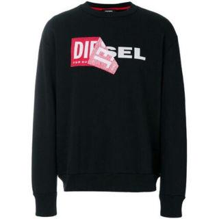 Diesel スウェット ロゴ ブラック  XXLディーゼル