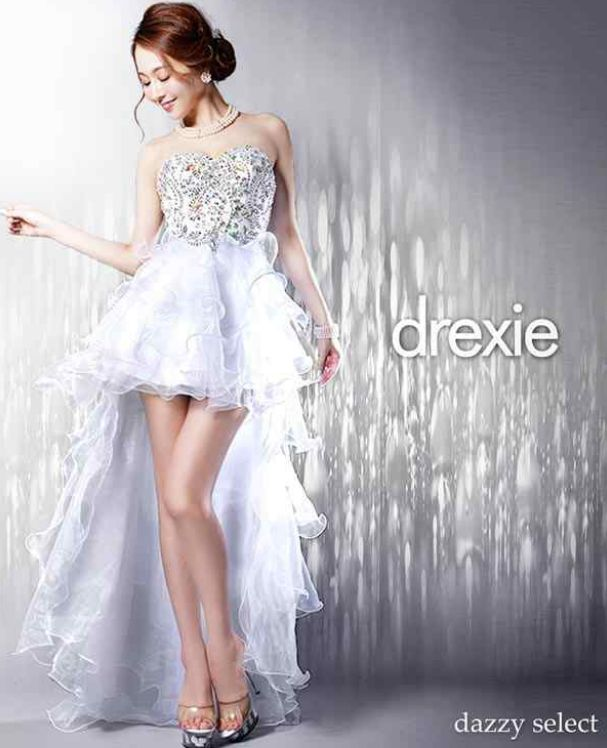 drexieフリルロングドレス