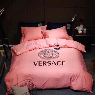 ヴェルサーチ寝具(布団カバー、シーツ、枕カバー)4点セット