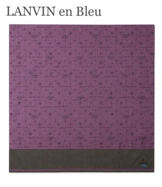 送料無料LANVIN en Blueロゴ入りハンカチ