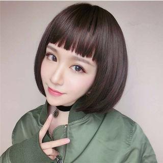 ブラック 高品質 耐熱 梨花風 かつら ウィッグ wig
