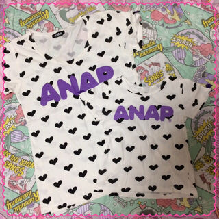 ANAP  親子ペア ロゴ Tシャツ