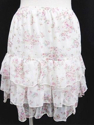 レストローズ L'EST ROSE 花柄フレアスカート