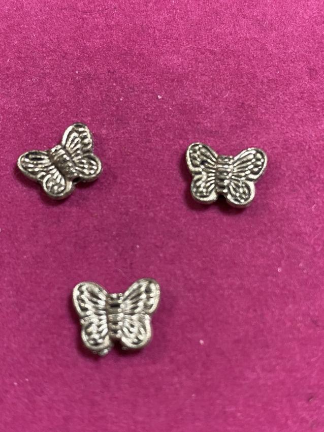 金属パーツ蝶20個