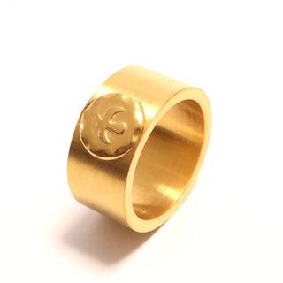 ステンレス素材の平打ちイーグルリング指輪