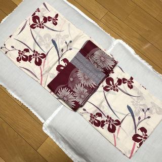 浴衣セット 2点セット 綿浴衣と半幅帯 小袋帯
