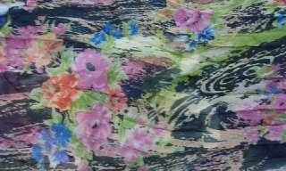 花柄プリーツドレス