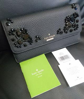 激レア!  ケイトスペード ゴージャスなビジューが凄い長財布