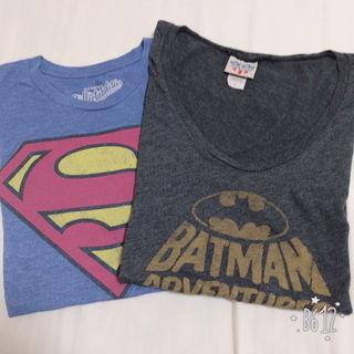 スーパーマン&バットマンTシャツ2枚set