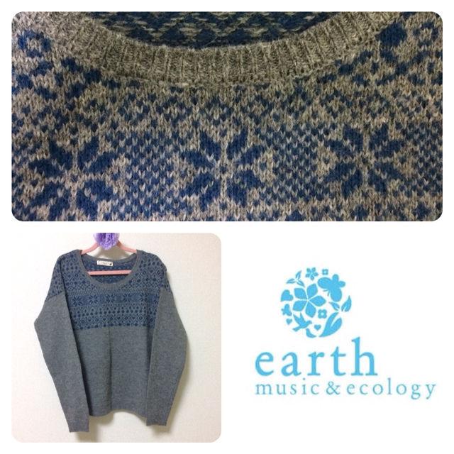 earth m&eノルディック柄ニット(earth music&ecology(アースミュージック&エコロジー) ) - フリマアプリ&サイトShoppies[ショッピーズ]