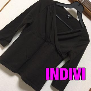 INDIVIカシミヤ混 羊毛カットソー