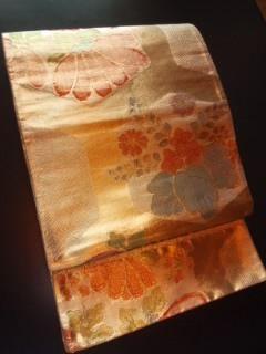 金通しキラキラ華ヤカ*帯正絹袋ナゴヤチョー美品