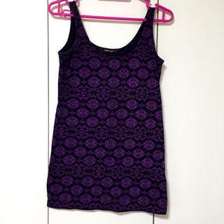 LOVE BOAT タンクトップ 黒×紫