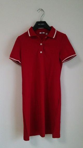 新品ポロシャツ♪ライン♪ワンピース♪レッド
