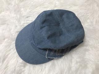 デニム帽子