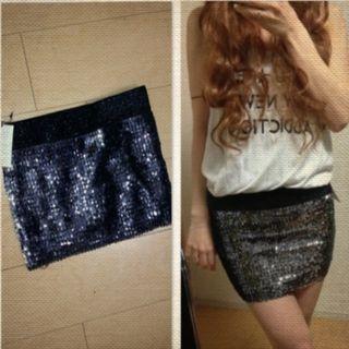 新品*ANAPスパンコールスカート