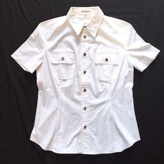 メルローズシャツ MELROSE 半袖 白ブラウス