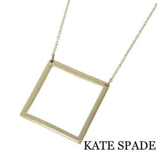 KATE SPADE【美品】スクエアーゴールドネックレス