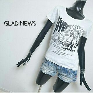 GLAD NEWS*スカルTシャツ