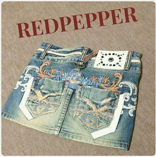 RED PEPPER デニムスカート