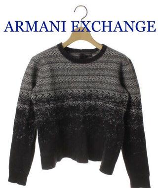 ARMANI EXCHANGE【新品同様】総柄ニット