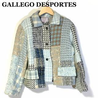 ギャレゴ デスポート☆ツイードパッチワークジャケット