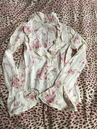 リズリサ 花柄 シャツ