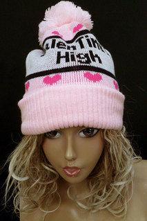 バレンタインハイニット帽