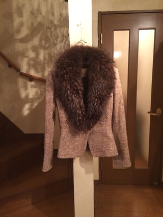 毛皮付きジャケット