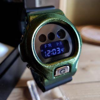 カスタムG-SHOCK DW-6900シルバーミラーグリーン