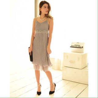 シンプル ワンカラー ワンピース ドレス