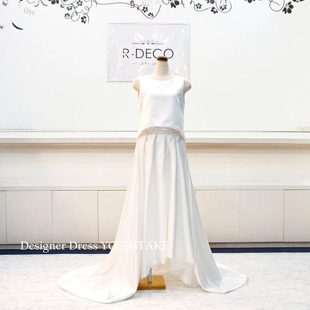 ウエディングドレス セパレートドレス(サテン生地)
