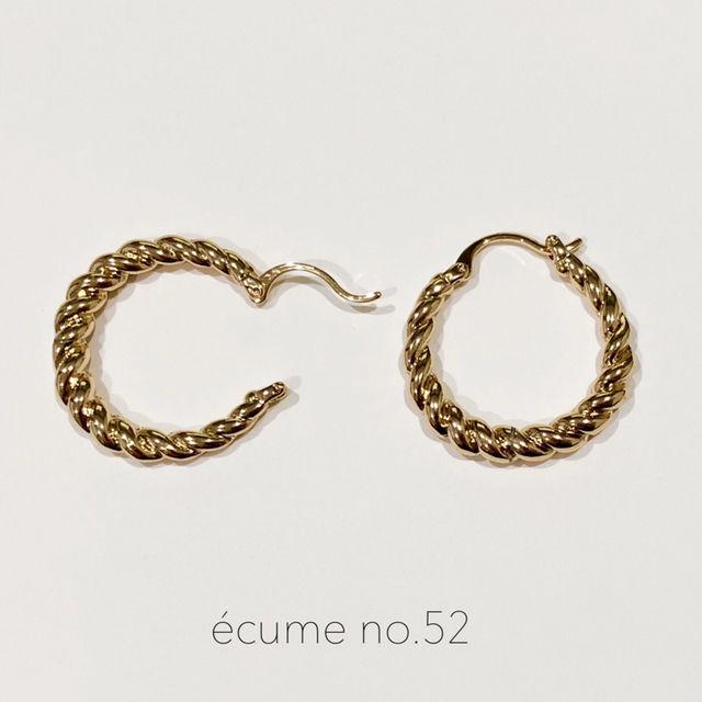新作【no.52】ツイストドロップピアス