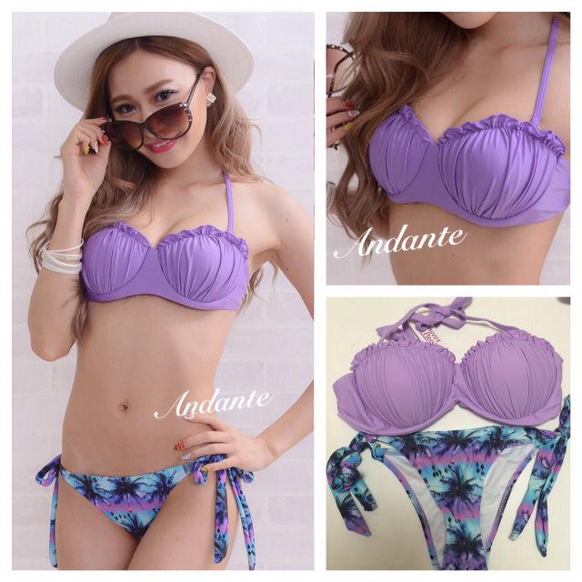 新品ブラジリアン水着マーメイド紫