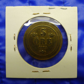 1907年スウェーデン古いコイン☆アンティーク