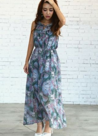 eimy resort flower maxi dress