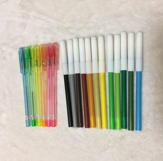 送料込!色鉛筆6色&カラーペン12色