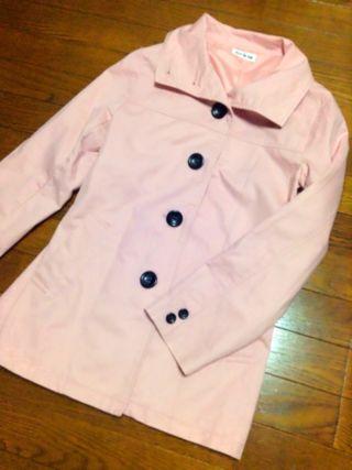 値下げしました!(大きいサイズ)桜色スプリングコート