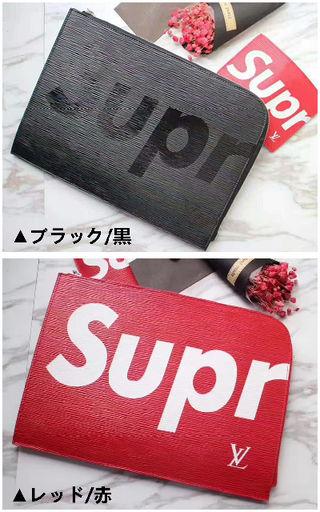 国内発◆Supremeコラボ◆クラッチバッグ ロゴ入